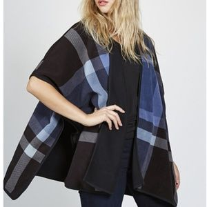 NWT Women's Open Front Poncho